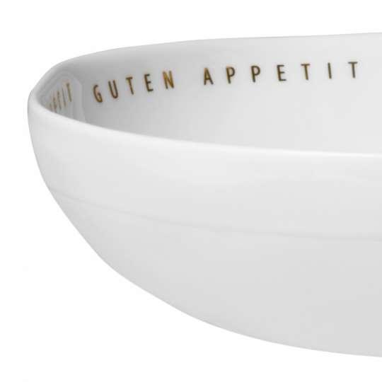 Serie 'Guten Appetit' Porzellanschale, breit