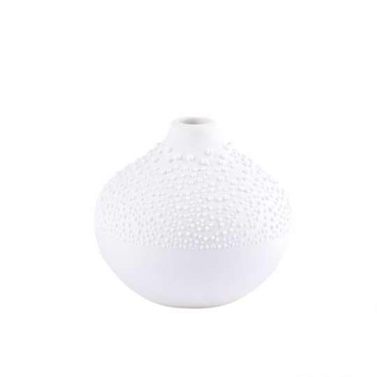 räder - Weiße Perlenvase - Design 2