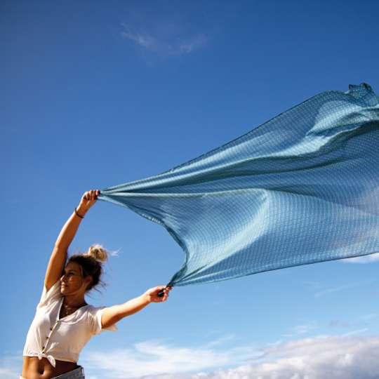 Räder - Serie: Meer als Worte / Mood Strandtuch blau 1
