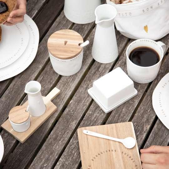 Porzellanserie 'Guten Appetit' Mood Holztisch