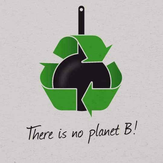 Scanpan - Nachhaltigkeit / Logo 'there is no plan b', weißer Hintergrund
