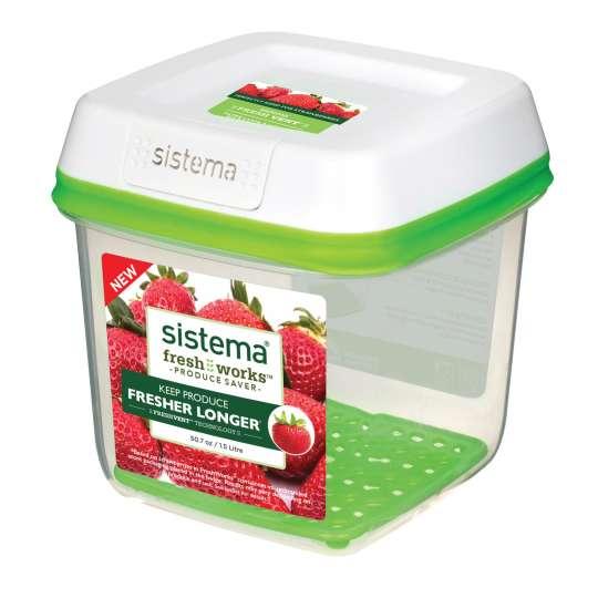 sistema - Frische-Boxen FreshWorks - ideal für Erdbeeren