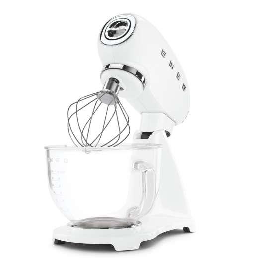 smeg Küchenmaschine, Full-Colour-Lackierung und Glasschüssel SMF13, weiß