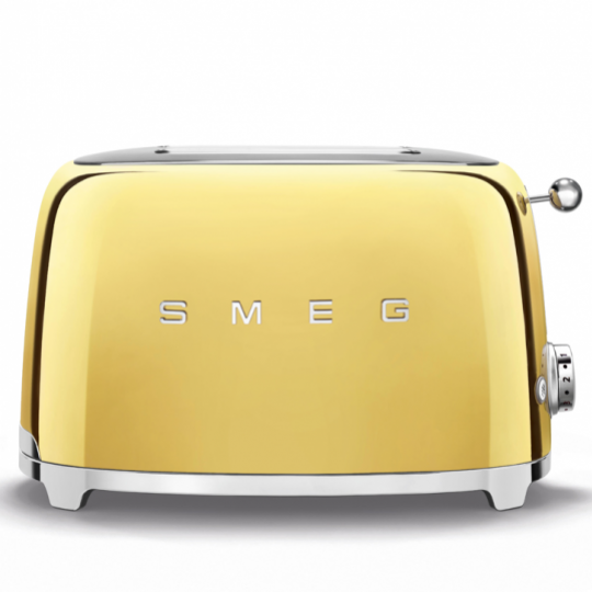 smeg: Luxuriöse Sondereditionen - Toaster Gold, TSF01GOEU