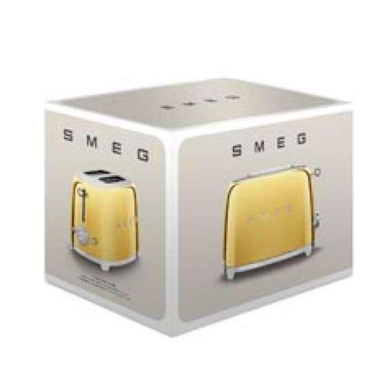 smeg: Luxuriöse Sondereditionen - Toaster Gold, TSF01GOEU, Verpackung