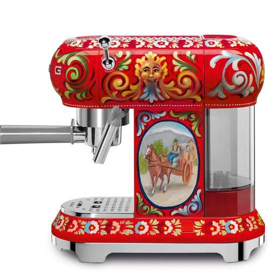 """smeg Kollektion """"Sicily is my love"""" Espresso-Siebträgermaschine"""